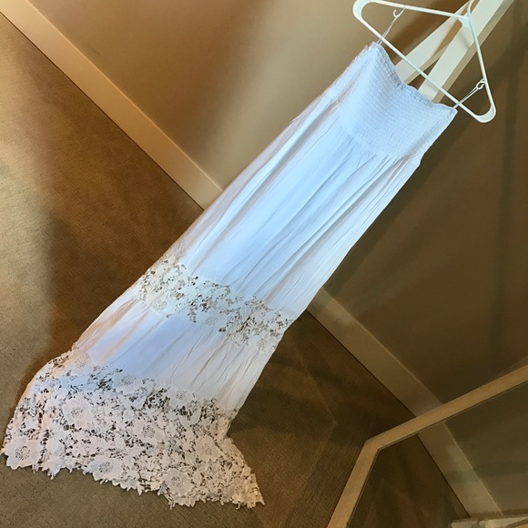 Nwt Guess White Summer Beach Dress Nwt